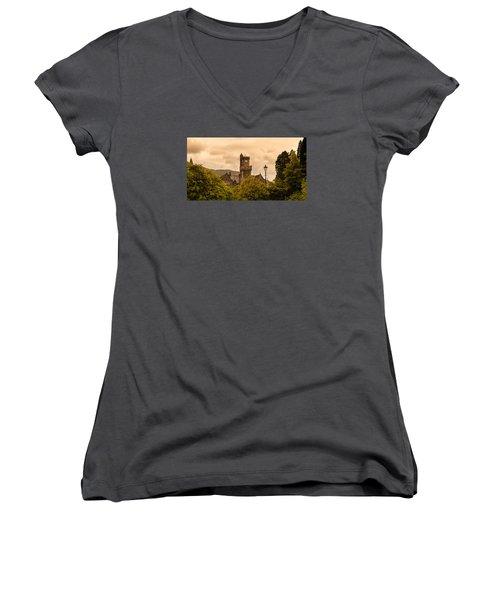 Scottish Abbey Women's V-Neck T-Shirt