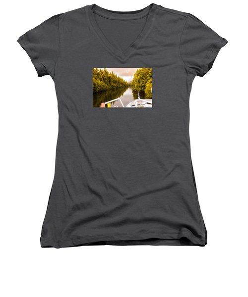 Scottish Loch 4 Women's V-Neck T-Shirt