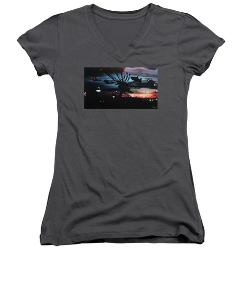 All Seeing Women's V-Neck (Athletic Fit)