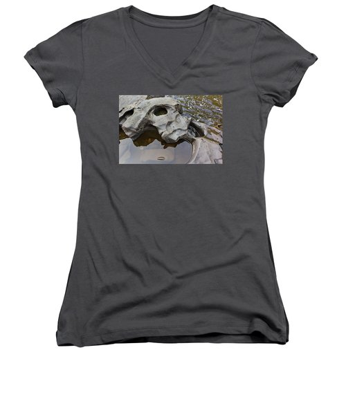 Sculpted Rock Women's V-Neck T-Shirt