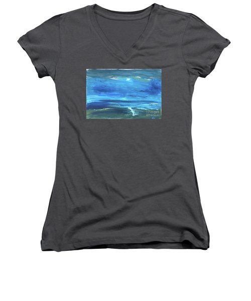 Sea And Sky Women's V-Neck (Athletic Fit)