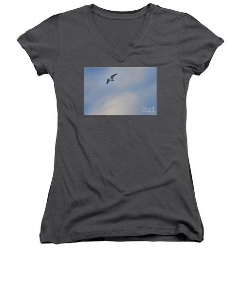 Sea Bird In Flight Women's V-Neck (Athletic Fit)