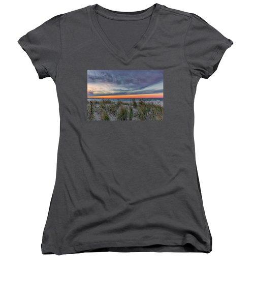 Sea Grass Women's V-Neck T-Shirt