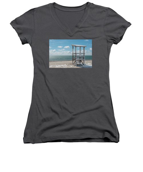 Sea Gull Beach #2 Women's V-Neck (Athletic Fit)