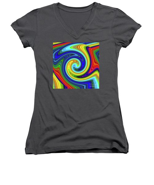 Sea Of Colors Women's V-Neck (Athletic Fit)