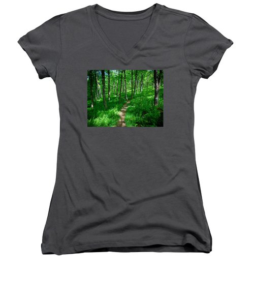 Sea Of Ferns Women's V-Neck