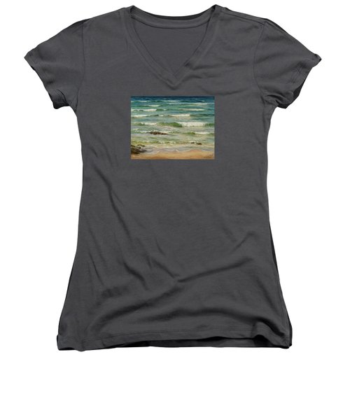 Sea Symphony. Part 1. Women's V-Neck T-Shirt