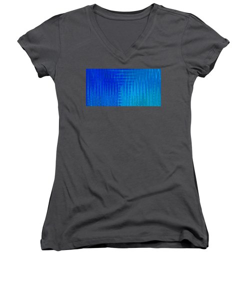 Sea Song Blue On Blue Women's V-Neck T-Shirt