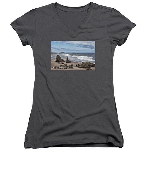 Sea Stacks And Surf Women's V-Neck