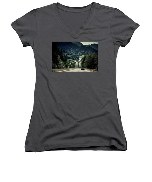 Sea To Sky Highway Women's V-Neck (Athletic Fit)