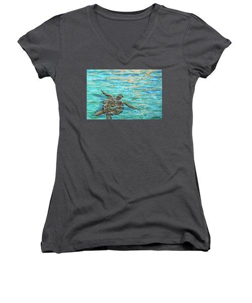 Sea Turtle Dream Women's V-Neck
