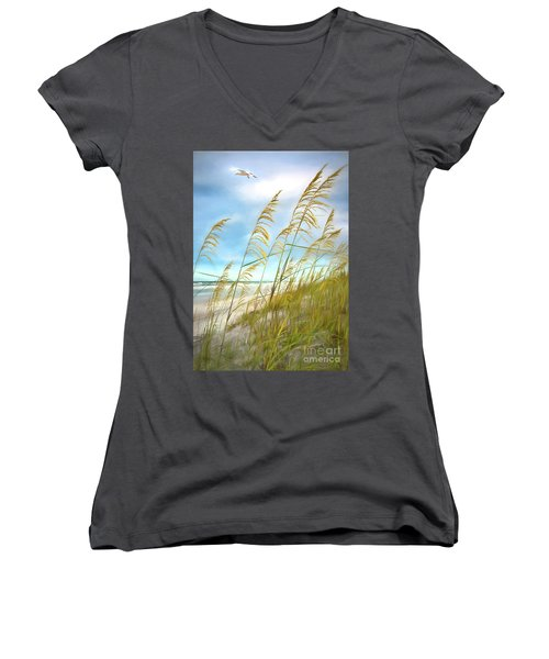 Seaoats Fantasy Women's V-Neck T-Shirt (Junior Cut)