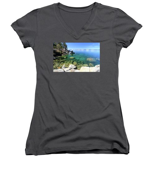 Search Her Depths Women's V-Neck (Athletic Fit)