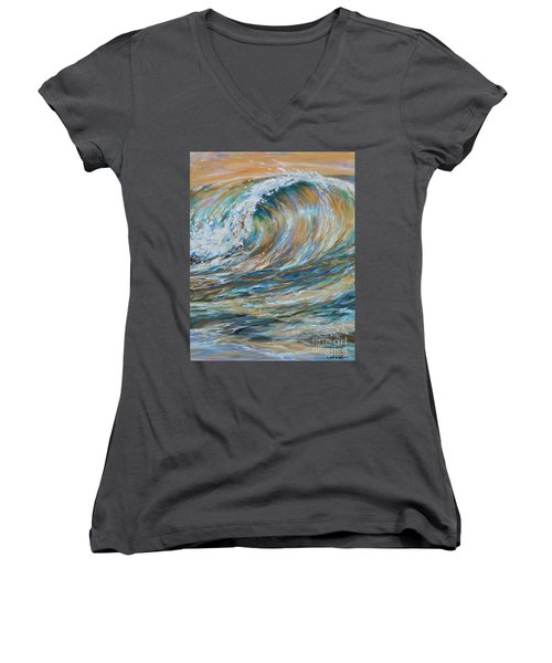 Seaspray Gold Women's V-Neck T-Shirt