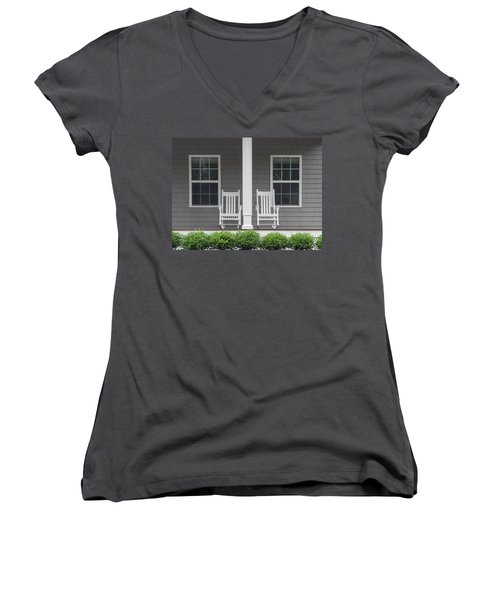 Seating For Two Women's V-Neck T-Shirt