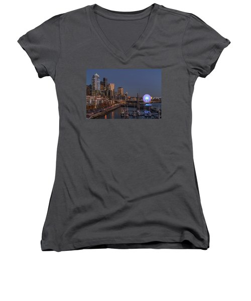 Seattle Autumn Nights Women's V-Neck (Athletic Fit)