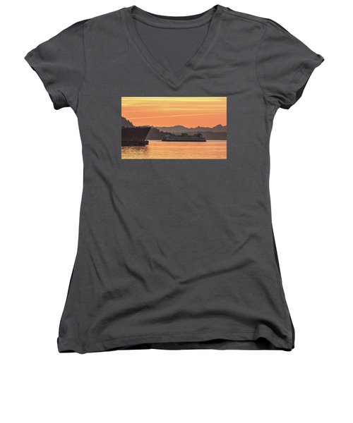 Seattle - Bremerton Ferry Women's V-Neck