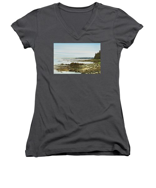 Seawall Mt. Desert Island Women's V-Neck (Athletic Fit)