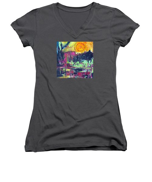 Secret Garden Women's V-Neck T-Shirt