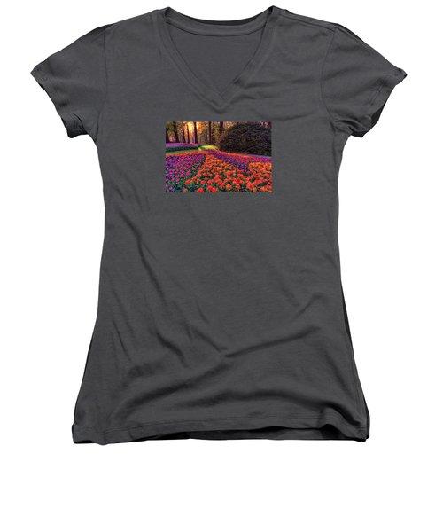Secret Garden Women's V-Neck T-Shirt