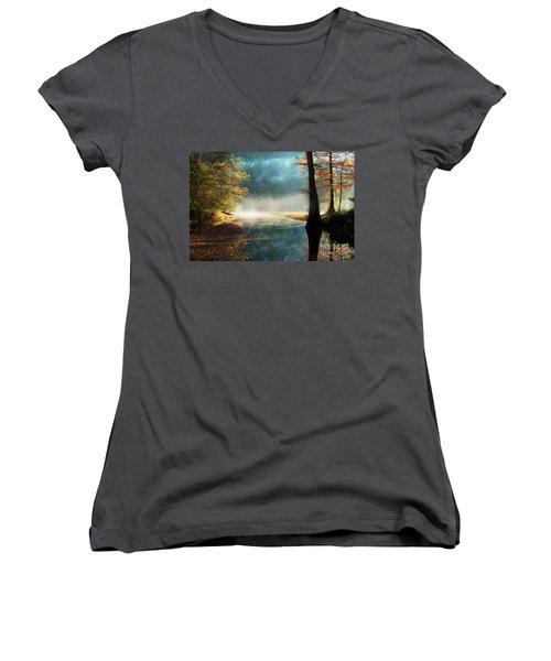 Secret Hideaway At Beavers Bend Women's V-Neck T-Shirt