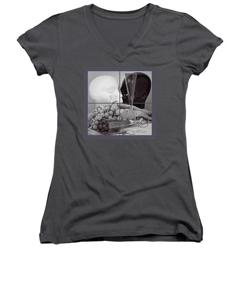 Women's V-Neck T-Shirt featuring the photograph Sections by Elf Evans