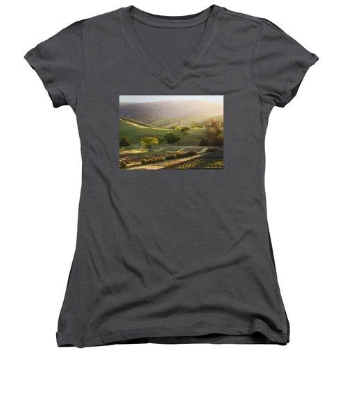 Sedgwick Sunrise Women's V-Neck T-Shirt