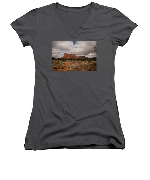 Sedona National Park Arizona Red Rock 2 Women's V-Neck T-Shirt (Junior Cut)
