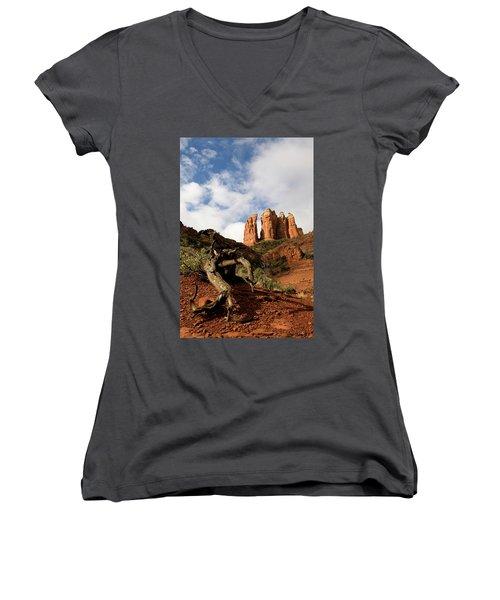 Sedona Red Rocks No. 01 Women's V-Neck T-Shirt