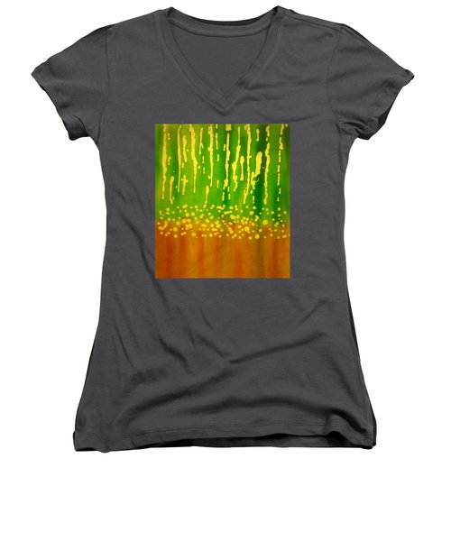 Seeds And Sprouts Women's V-Neck (Athletic Fit)