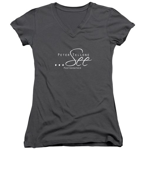 See - Peter Tellone Photographer Women's V-Neck T-Shirt (Junior Cut) by Peter Tellone