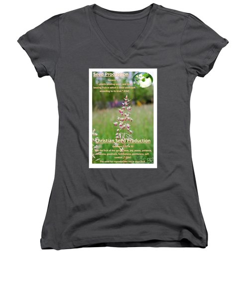 Seed Production Women's V-Neck