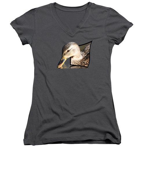 Seeking Water Women's V-Neck T-Shirt (Junior Cut) by Shane Bechler