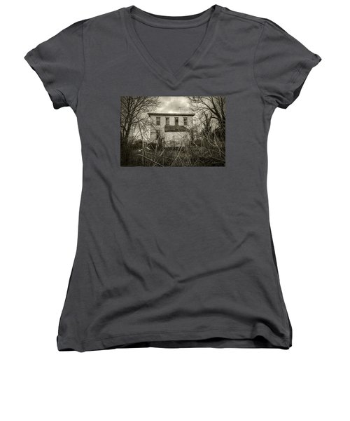 Seen Better Days Women's V-Neck T-Shirt (Junior Cut) by Brian Wallace