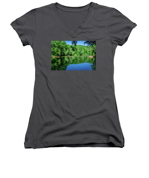 Semi Placid Stream Women's V-Neck