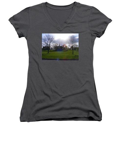 Seminary Ridge Women's V-Neck T-Shirt (Junior Cut) by Adam Cornelison