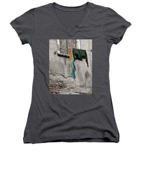 Semplicita - Venice Women's V-Neck T-Shirt (Junior Cut) by Tom Cameron