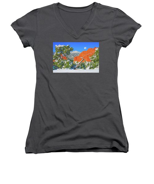Sensitive People Suffer More, But They Also Love More And Dream More.  Women's V-Neck (Athletic Fit)