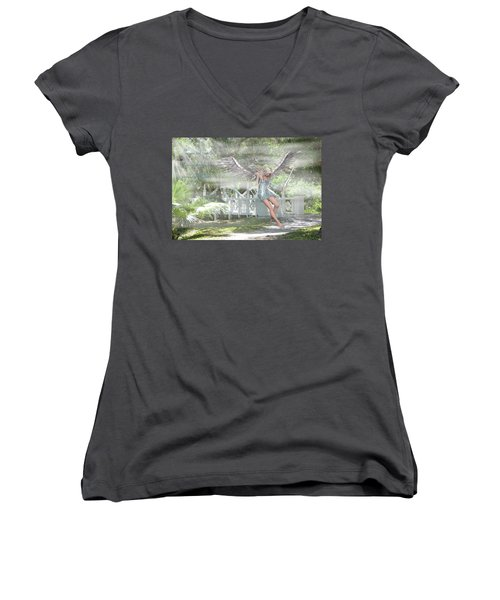 Sent From Heaven Women's V-Neck (Athletic Fit)
