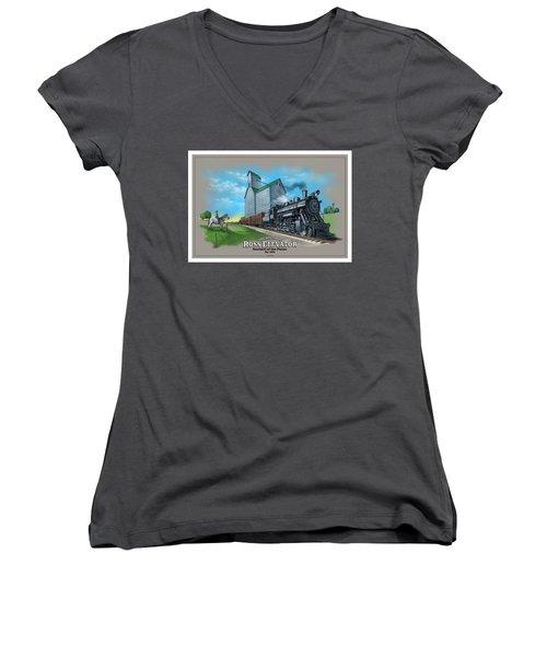 The Ross Elevator Sentinel Of The Plains Women's V-Neck T-Shirt (Junior Cut) by Scott Ross