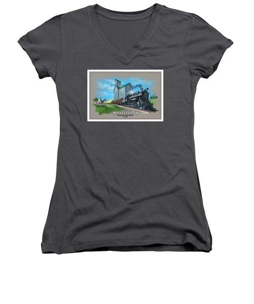 The Ross Elevator Sentinel Of The Plains Women's V-Neck (Athletic Fit)