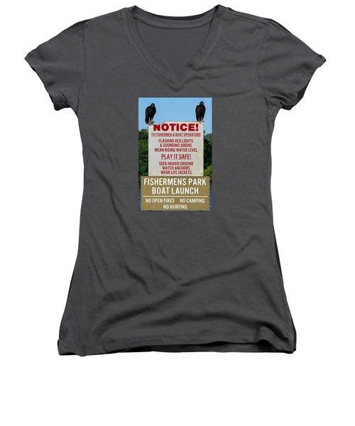 The Enforcers Women's V-Neck T-Shirt