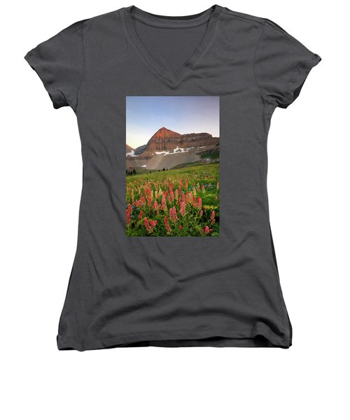 September Wildflowers Women's V-Neck (Athletic Fit)