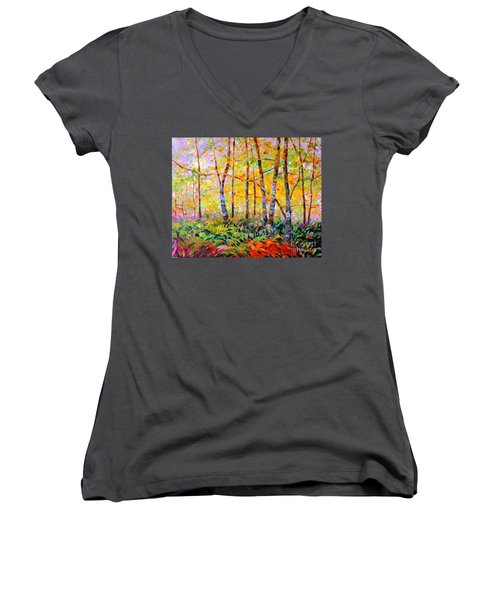 Serenade Of Forest Women's V-Neck (Athletic Fit)