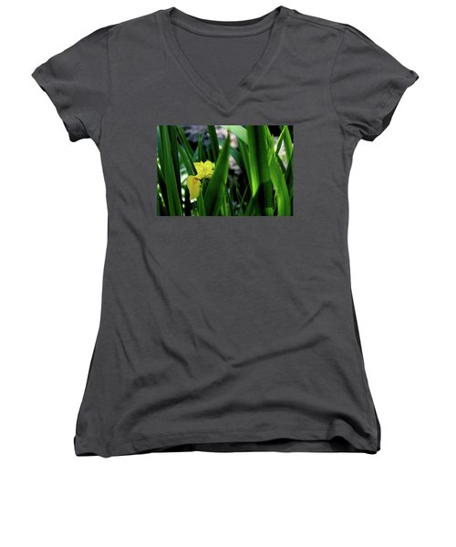 Women's V-Neck (Athletic Fit) featuring the photograph Serendipity by Hanne Lore Koehler