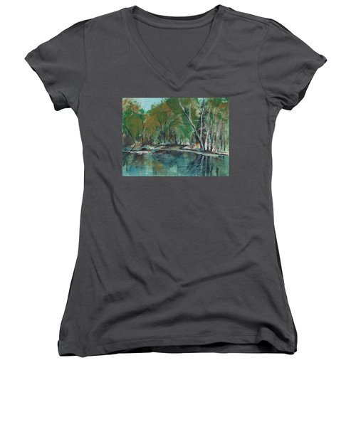 Serene Women's V-Neck T-Shirt (Junior Cut) by Lee Beuther