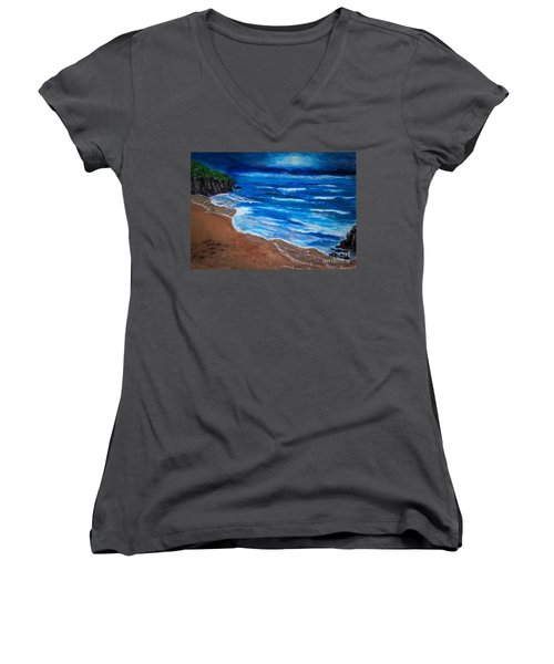 Serene Seashore Women's V-Neck
