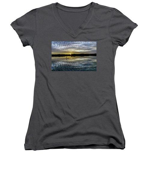 Serenity On A Paddleboard Women's V-Neck
