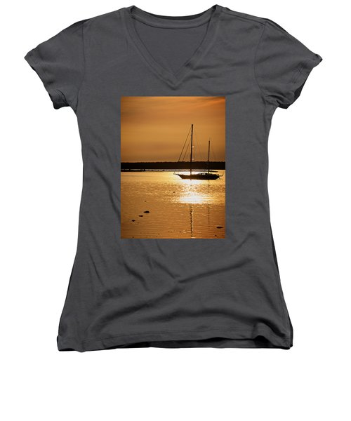 Setting Sun II Women's V-Neck T-Shirt