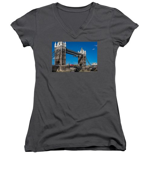 Seven Seconds - The Tower Bridge Hawker Hunter Incident  Women's V-Neck T-Shirt